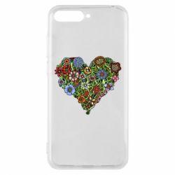Чехол для Huawei Y6 2018 Flower heart - FatLine