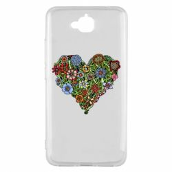 Чехол для Huawei Y6 Pro Flower heart - FatLine