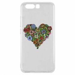 Чехол для Huawei P10 Flower heart - FatLine