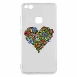 Чехол для Huawei P10 Lite Flower heart - FatLine