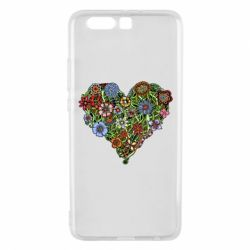 Чехол для Huawei P10 Plus Flower heart - FatLine