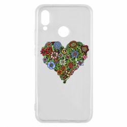 Чехол для Huawei P20 Lite Flower heart - FatLine
