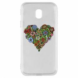 Чохол для Samsung J3 2017 Flower heart
