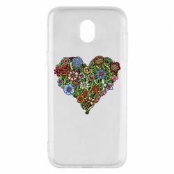 Чехол для Samsung J5 2017 Flower heart - FatLine