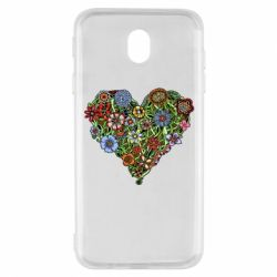 Чехол для Samsung J7 2017 Flower heart - FatLine