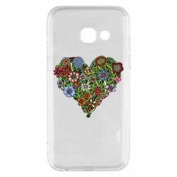 Чехол для Samsung A3 2017 Flower heart - FatLine