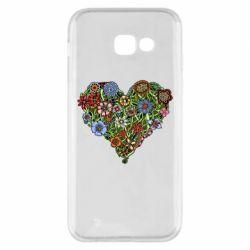 Чехол для Samsung A5 2017 Flower heart - FatLine