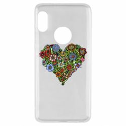 Чехол для Xiaomi Redmi Note 5 Flower heart - FatLine