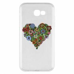 Чехол для Samsung A7 2017 Flower heart - FatLine