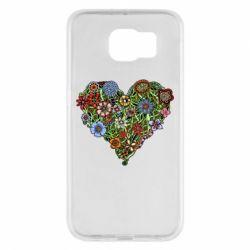 Чехол для Samsung S6 Flower heart - FatLine