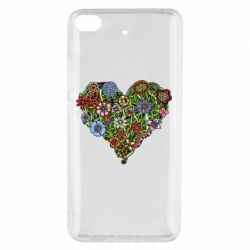 Чехол для Xiaomi Mi 5s Flower heart - FatLine