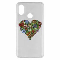 Чехол для Xiaomi Mi8 Flower heart - FatLine
