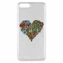 Чехол для Xiaomi Mi Note 3 Flower heart - FatLine