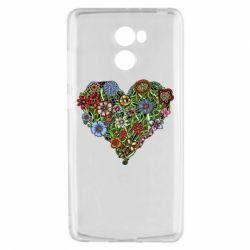 Чехол для Xiaomi Redmi 4 Flower heart - FatLine