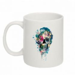 Кружка 320ml Flower Skull 4 - FatLine