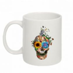 Кружка 320ml Flower Skull 5 - FatLine