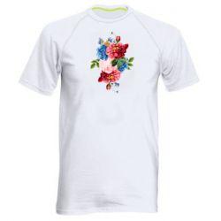 Чоловіча спортивна футболка Flowers and butterfly