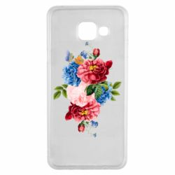 Чохол для Samsung A3 2016 Flowers and butterfly