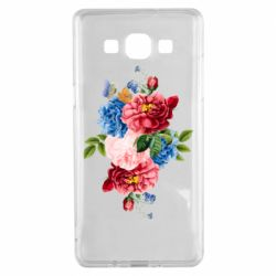 Чохол для Samsung A5 2015 Flowers and butterfly