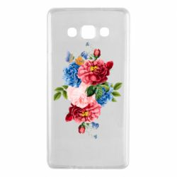 Чохол для Samsung A7 2015 Flowers and butterfly