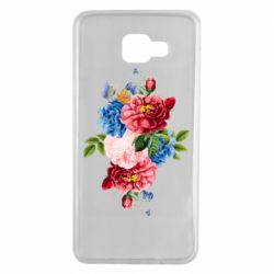 Чохол для Samsung A7 2016 Flowers and butterfly
