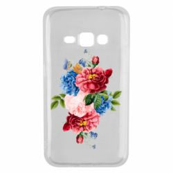 Чохол для Samsung J1 2016 Flowers and butterfly
