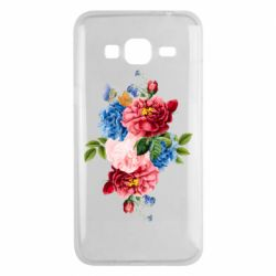Чохол для Samsung J3 2016 Flowers and butterfly