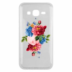 Чохол для Samsung J5 2015 Flowers and butterfly