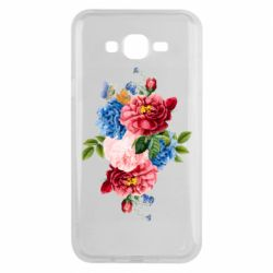 Чохол для Samsung J7 2015 Flowers and butterfly