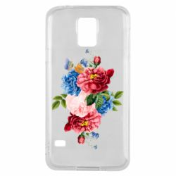Чохол для Samsung S5 Flowers and butterfly