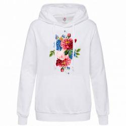 Толстовка жіноча Flowers and butterfly
