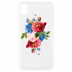 Чохол для iPhone XR Flowers and butterfly