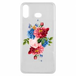 Чохол для Samsung A6s Flowers and butterfly