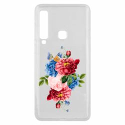 Чохол для Samsung A9 2018 Flowers and butterfly