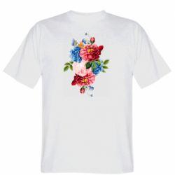 Чоловіча футболка Flowers and butterfly