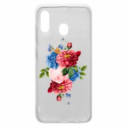 Чохол для Samsung A20 Flowers and butterfly