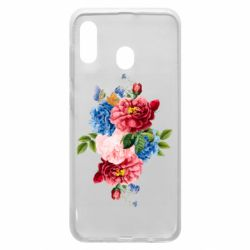 Чохол для Samsung A30 Flowers and butterfly