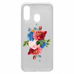 Чохол для Samsung A40 Flowers and butterfly