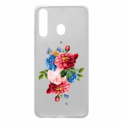 Чохол для Samsung A60 Flowers and butterfly