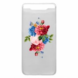 Чохол для Samsung A80 Flowers and butterfly