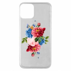 Чохол для iPhone 11 Flowers and butterfly