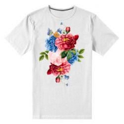 Чоловіча стрейчева футболка Flowers and butterfly