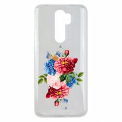 Чохол для Xiaomi Redmi Note 8 Pro Flowers and butterfly