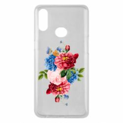 Чохол для Samsung A10s Flowers and butterfly