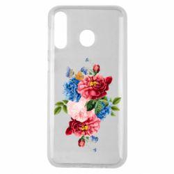 Чохол для Samsung M30 Flowers and butterfly