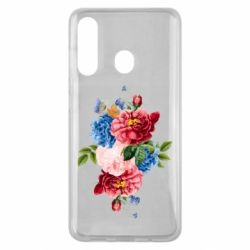 Чохол для Samsung M40 Flowers and butterfly