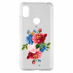 Чохол для Xiaomi Redmi S2 Flowers and butterfly