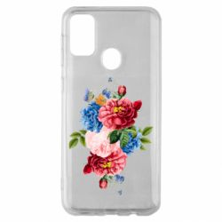 Чохол для Samsung M30s Flowers and butterfly