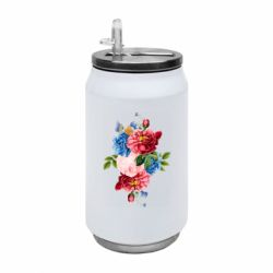 Термобанка 350ml Flowers and butterfly