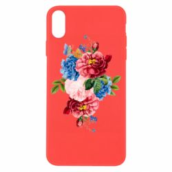 Чохол для iPhone X/Xs Flowers and butterfly